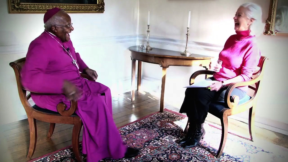 Archbishop Tutu making me laugh. Oxford 2012.