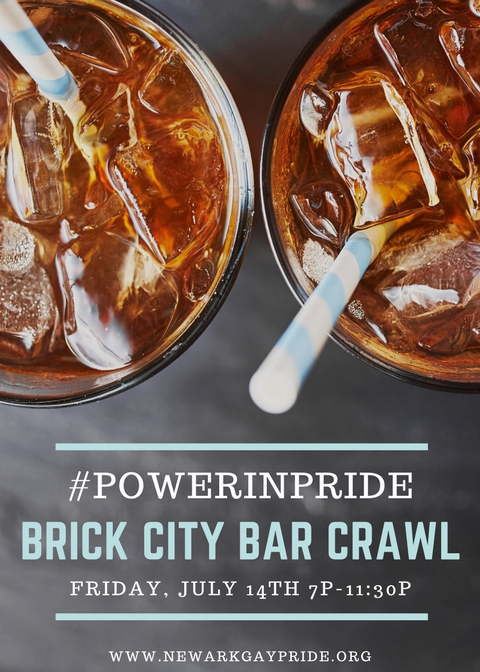 Friday, July 14th - 7pm - 11:30pmJoin Newark Gay Pride and Newark's LGBT Community celebrate the 2017 Power In Pride Festival and the Power In Pride Bar Crawl!This is a WALKING bar crawl and we will be wind through 4 bars in Newark's Ironbound neighborhood - with free appetizers or drink offered at each. We'll spend about an hour at each bar and end the night with a dance party!