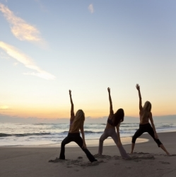 Yoga at Sunrise                                              Austinmer Beach -   Summer period