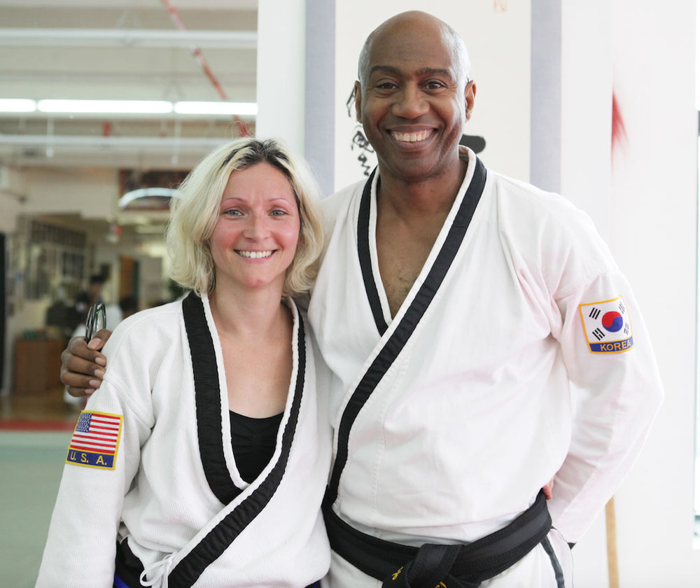 Chungsanim Master Jill Zoll-Burdick  has trained with Master Herbert since 1998 and has a 4th degree black belt in HapKiDo. She has the rare ability to teach HapKido and martial arts to children as young as 3 and to the elderly. She specializes in joint locking, special weapons and tactics. She graduated from Fashion Institute of Technology with a degree in Fashion Design. She has been a buyer and in product development. She is the USA Sales Manager for Edge Accessories and is married with 2 children.