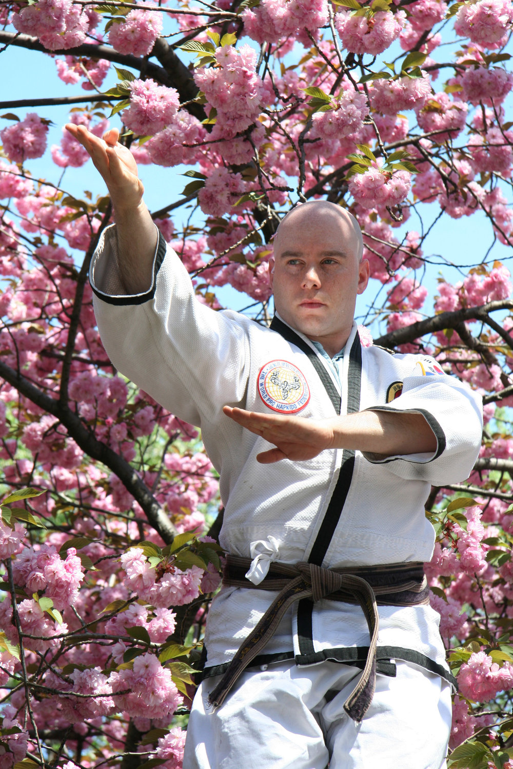 ChungSaNim Master Jonathan Waks - received his 1st Dan Black Belt in HapKiDo in 2001, a 2nd Dan in 2004, 3rd Dan in 2010 and 4th in 2015. In addition, he also holds a First Dan – 2008 in VSK Jujitsu- Soke John Davis. Jonathan has over 1500 teaching hours, and has led specialty seminars in weapons, sparring, falling, philosophy, meditation and teacher training. He works as an event and marketing producer in Manhattan.