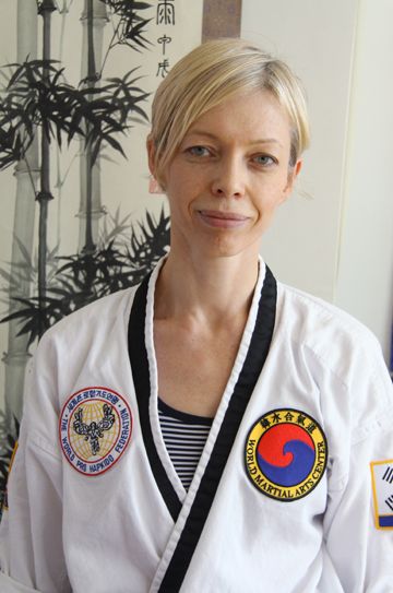 Kyosanim Advanced Instructor Holly Kozak  was born in Ukraine and immigrated to the US in 1990. She has trained with Master Herbert for over 17 years and is a 3rd degree black belt in HapKiDo. Holly Kozak is a nurse practitioner on the stroke team at Maimonides Medical Center and she teaches graduate students as adjunct faculty at NYU School of Nursing. In addition, Holly is a Licensed Acupuncturist with a degree from Pacific College of Oriental Medicine. Holly has trained many students towards their black belts and continues to teach as an instructor on a regular basis. Holly's focus and emphasis is on quality and precision.