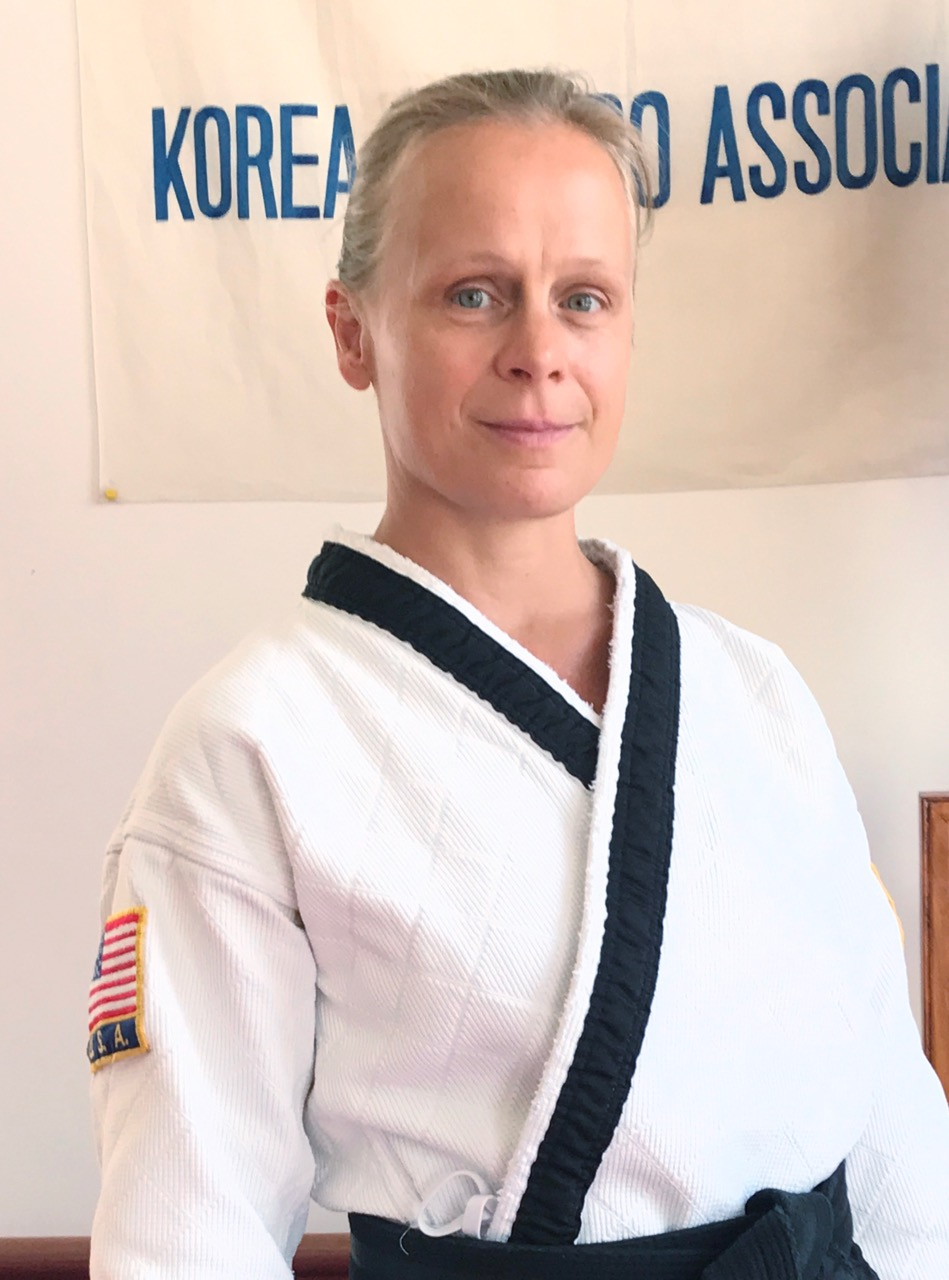 Kyosanim Advanced Instructor Eva Vaccaro  was born and raised in Hamburg, Germany. After beginning her training in Hapkido under SaBumNim Herbert, her passion shifted to include the Healing Arts. She holds a 3rd Dan in Hapkido, and   a 1st Degree Black Belt in Kumite Ryu Jujitsu under Soke Lil' John Davis. Eva has been a Certified Pilates Machine and Mat Instructor, a Certified Fitness Trainer, and is currently certified with AAAI/ISMA. Eva is an herbal practitioner certified by Clayton College of Natural Health.  In 2012 Eva completed her training to become a Holistic Health Coach and is a member of the American Association of Drugless Practitioners.