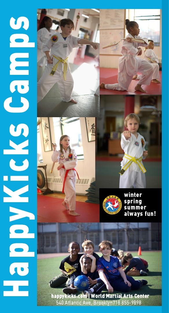 Happykicks Afterschool and CAMPS - WINTER, SPRING AND SUMMER CAMPS!At the World Martial Arts Center's Happykicks camps, kids learn how to address the realities of today's world. We have a fun curriculum that is packed with martial arts and life training.Could your child benefit for more confidence? Could he or she benefit from gaining more focus, physical coordination, and concentration? If you want to learn more about our extraordinary children's program, click the image, and we will show you how we provide the tools for your child's happy and successful future. AFTERSCHOOLWe will pick your child up from their school and bring them to WMAC where they will get one on one homework help and completion, in addition to two martial arts classes, chess mastery and more! Click here to learn more
