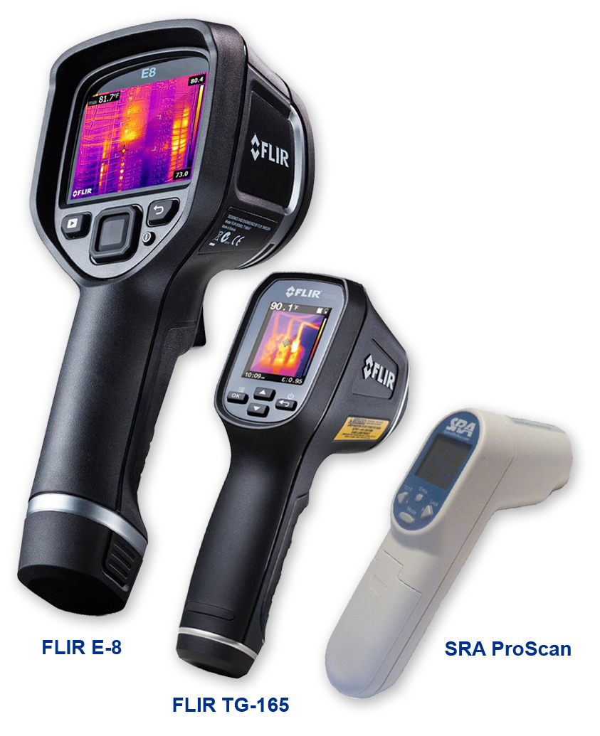 FLIR E-8, FLIR TG-165 and SRA ProScan