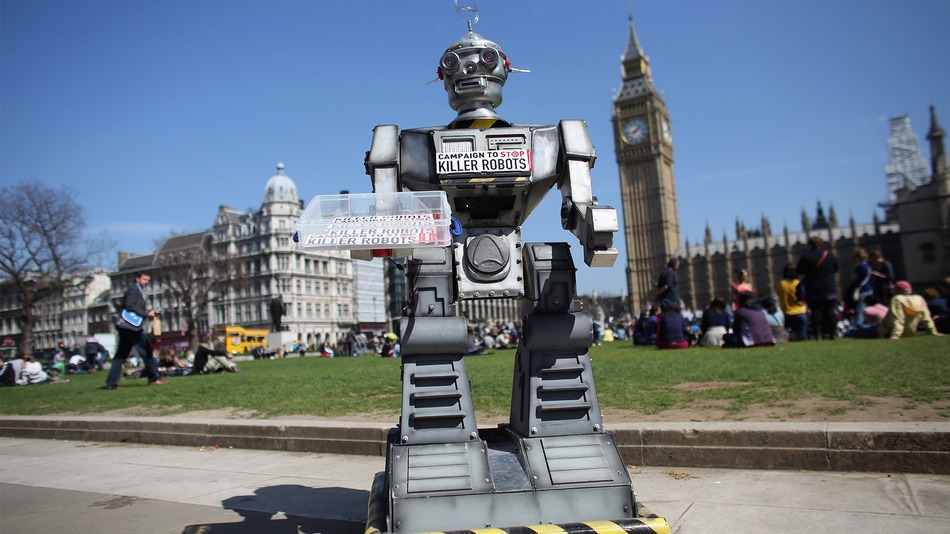 London Protestors Against Killer Robots