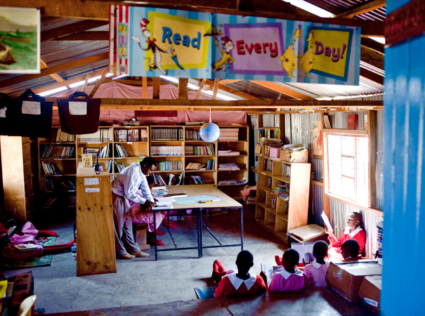 BEADS has created two libraries at our partner schools -- one at Top Ride Academy and one at Lobarishereki Primary School.