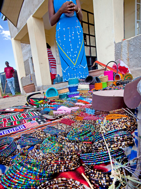 Bead product purchases help these women and their families break a pattern of poverty.