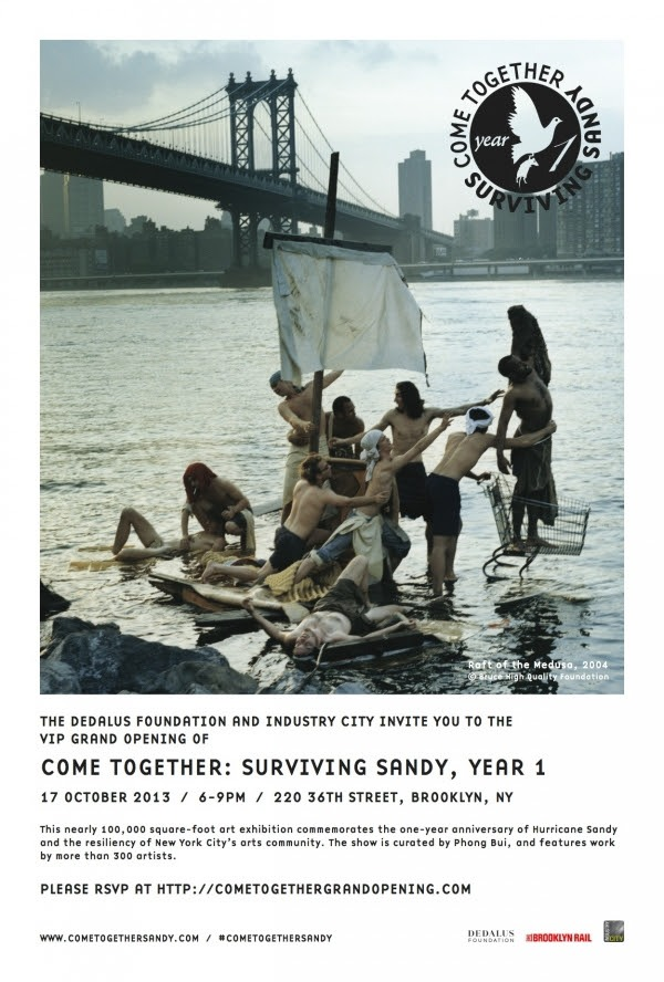 "My work is part of ""Come Together: Surviving Sandy, Year 1"" Show up at Industry City in Brooklyn.   RSVP at:  http://cometogethersandy.com/"