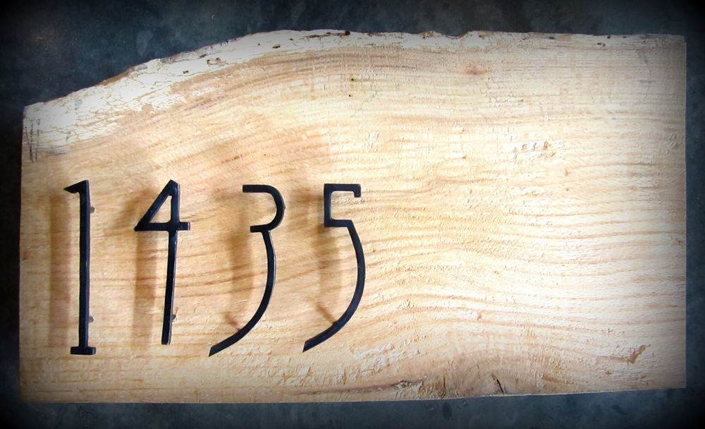Forged Iron House Numbers