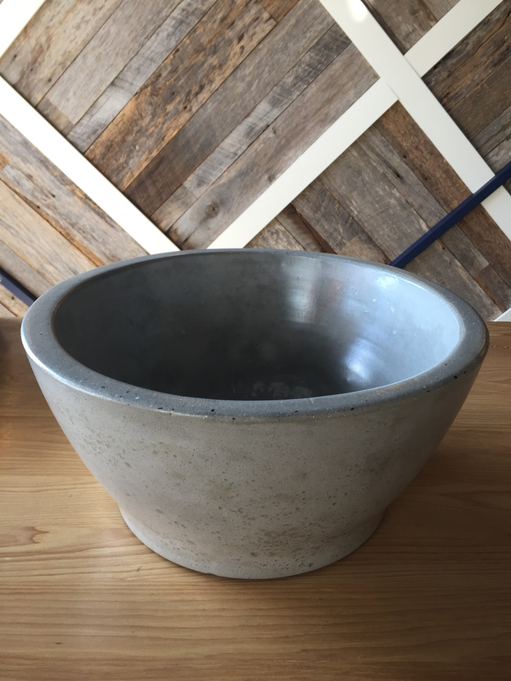 Light Grey Baby Belle Concrete Vessel Sink