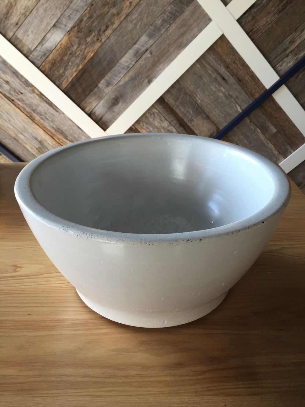 White Baby Belle Concrete Vessel Sink