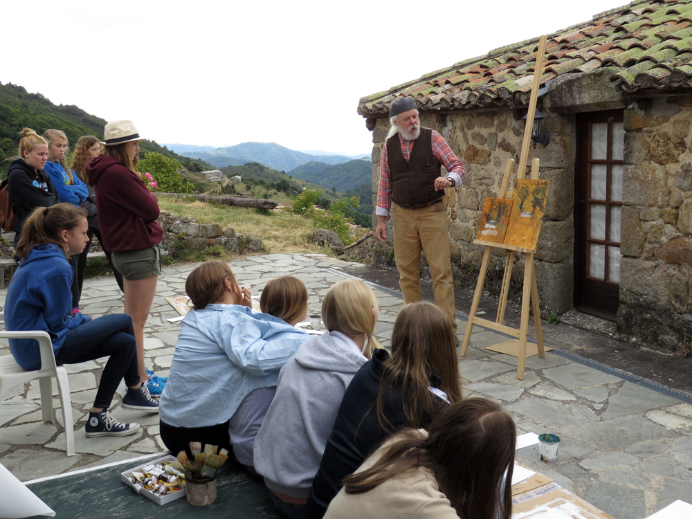 high school students painting courses summer programs