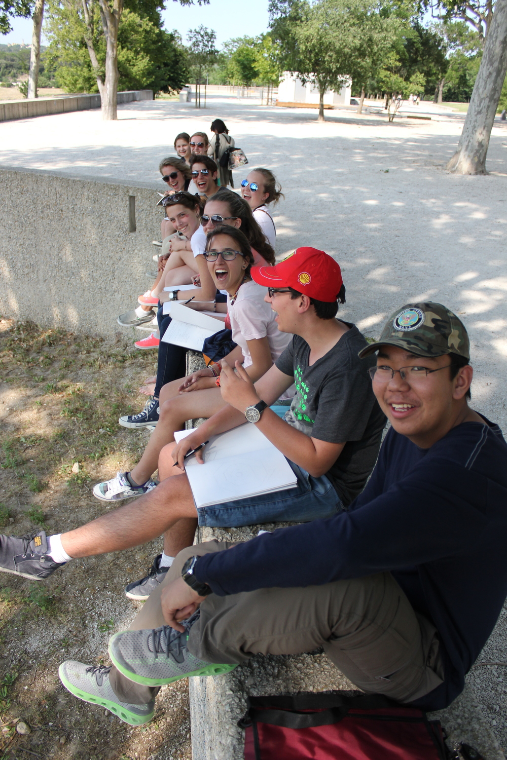 Sketching at the Pont du Gard