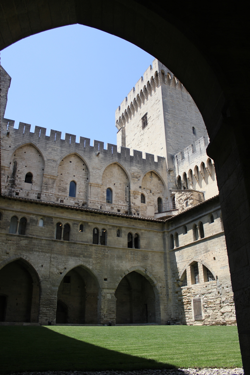 A courtyard at the Palais du Papes