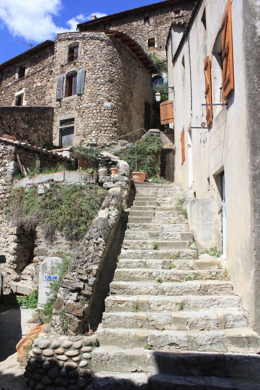 Exploring the village of Beauchastel