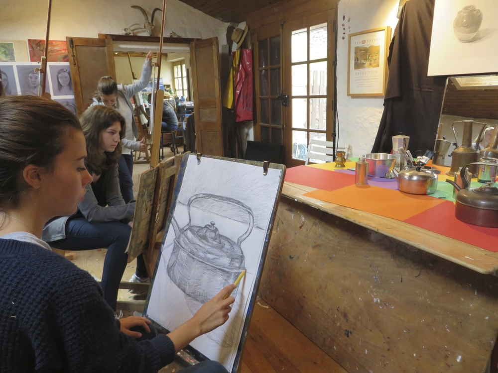 summer drawing course for high school students at les tapies