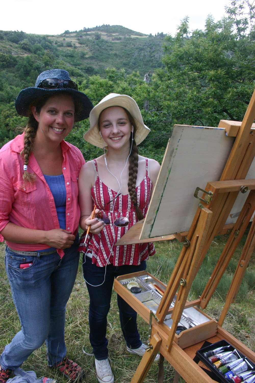 a student working with a visiting artist