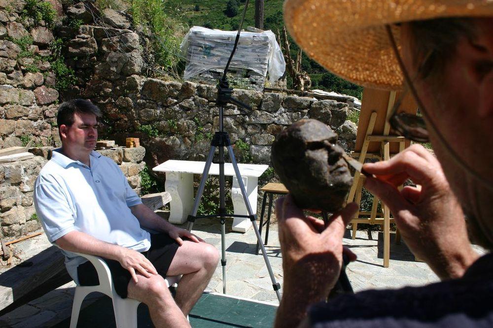 sculpting a portrait at les tapies summer programs