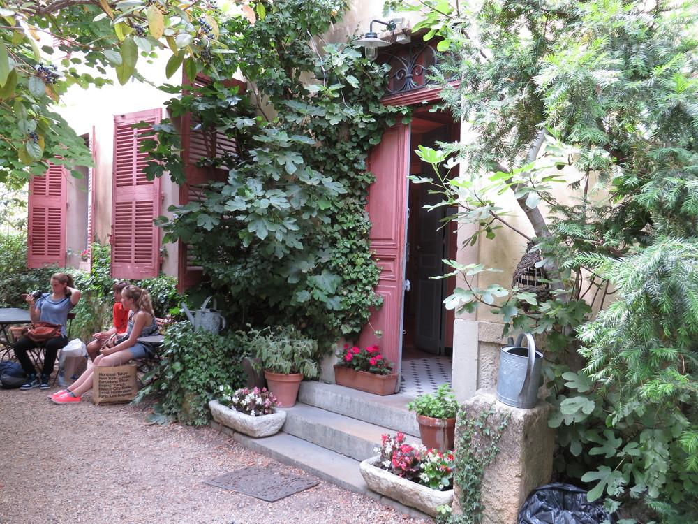 The gardens outside of Cezanne's studio