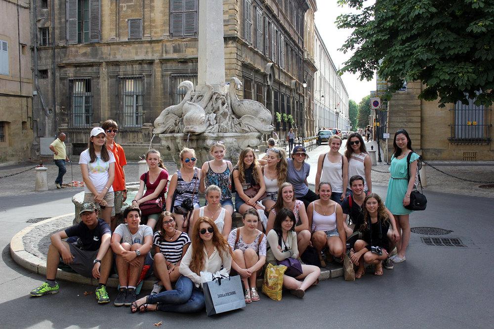 art summer program excursion to aix en provence
