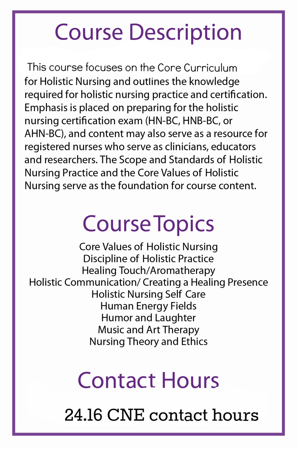 Holistic Nursing Prep Course International Integrative Health