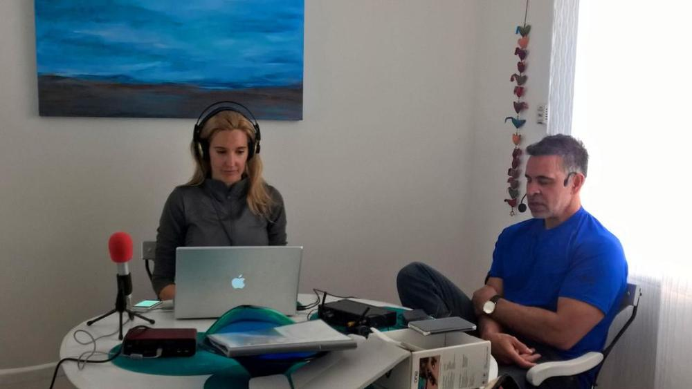 Mas Sajady and Crystal Fambrini record Exponential Intelligence Podcast Episode 36: A Medihealing on Having your Star Performance, in Malibu, CA.