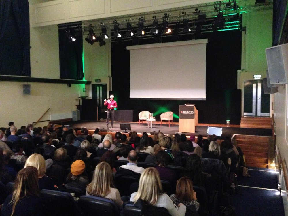 Mas speaks at Regents College in London