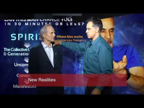 Mas and Alan Steinfeld on his TV show New Realities in 2015.