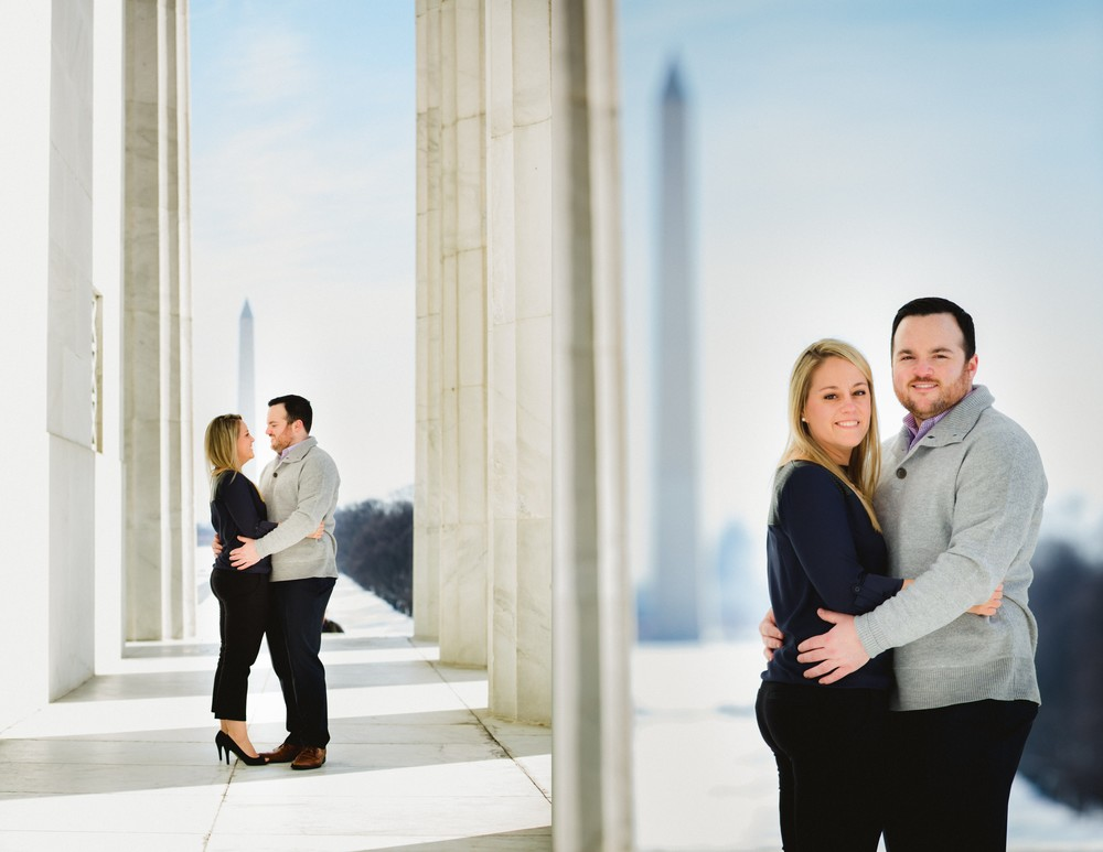 Washington DC Lincoln Memorial Engagement Session_Vness Photography
