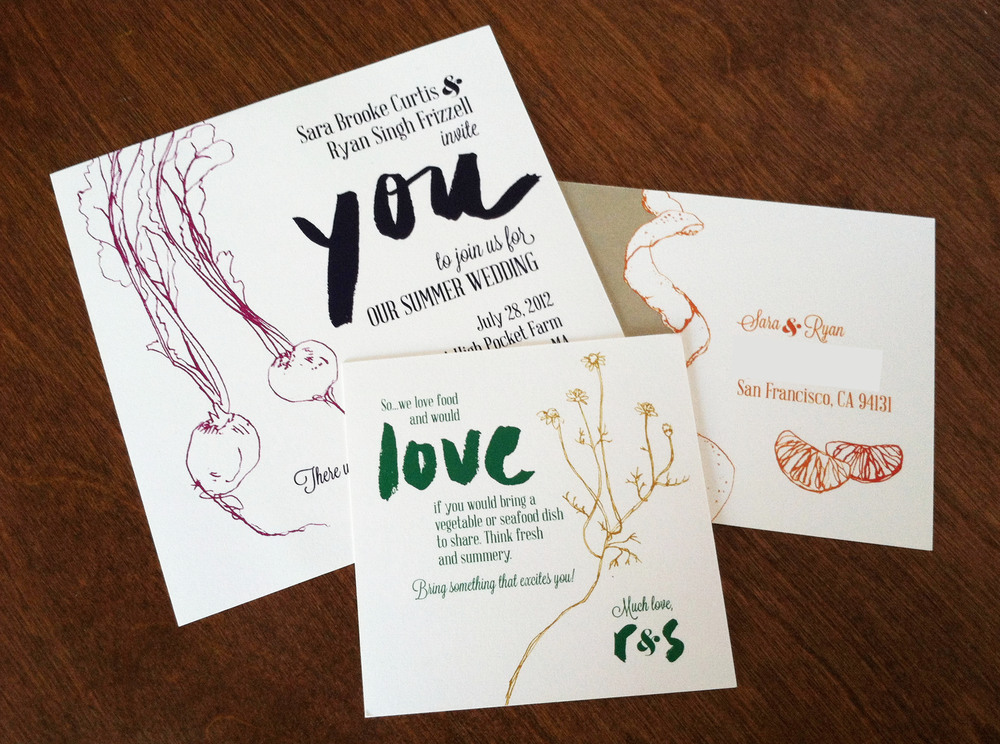 botanical invitation suite by erin ellis