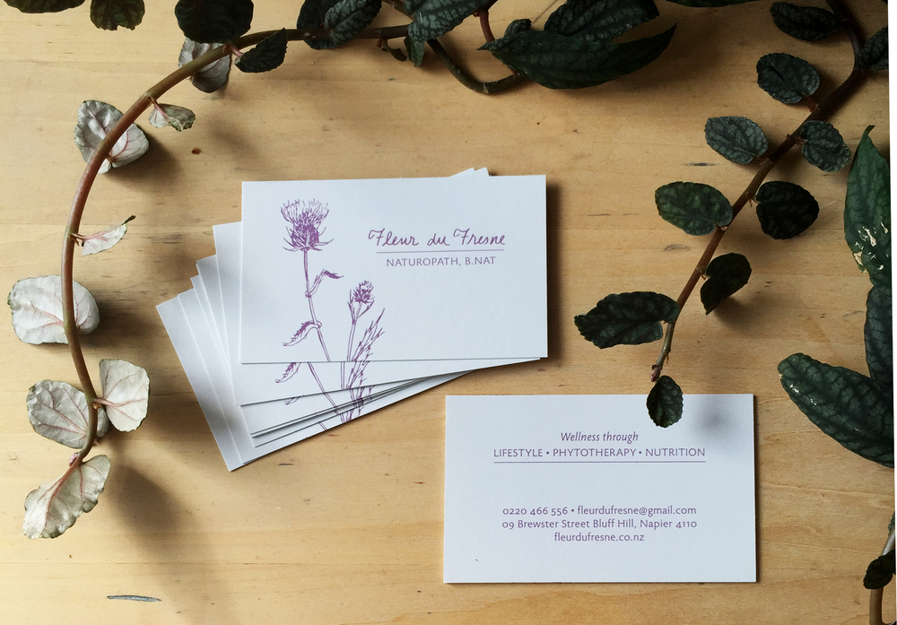 ellis botanical business card