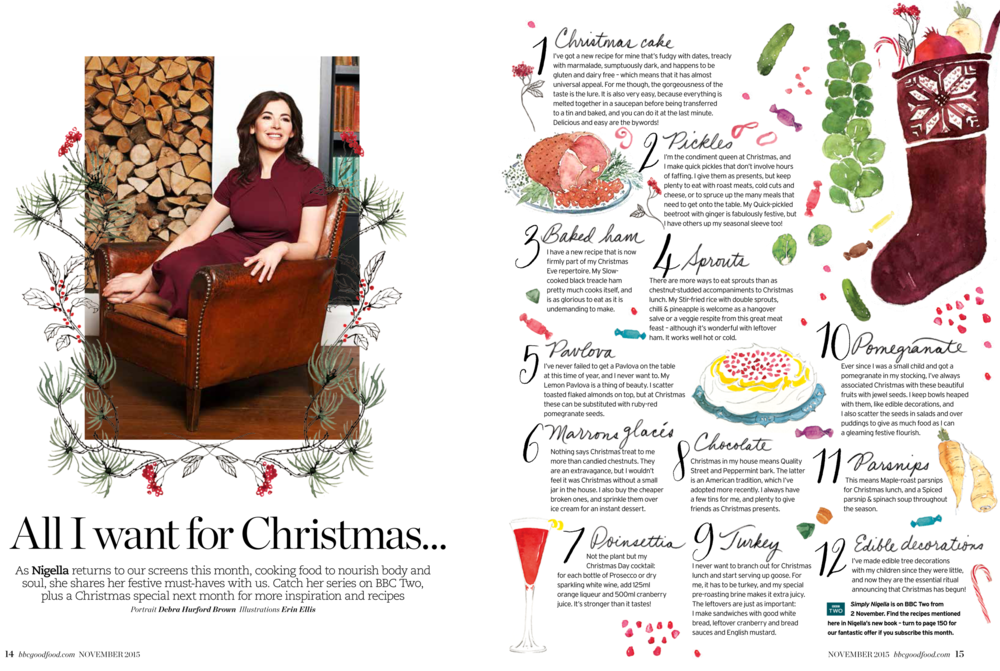 Nigella illustration spread