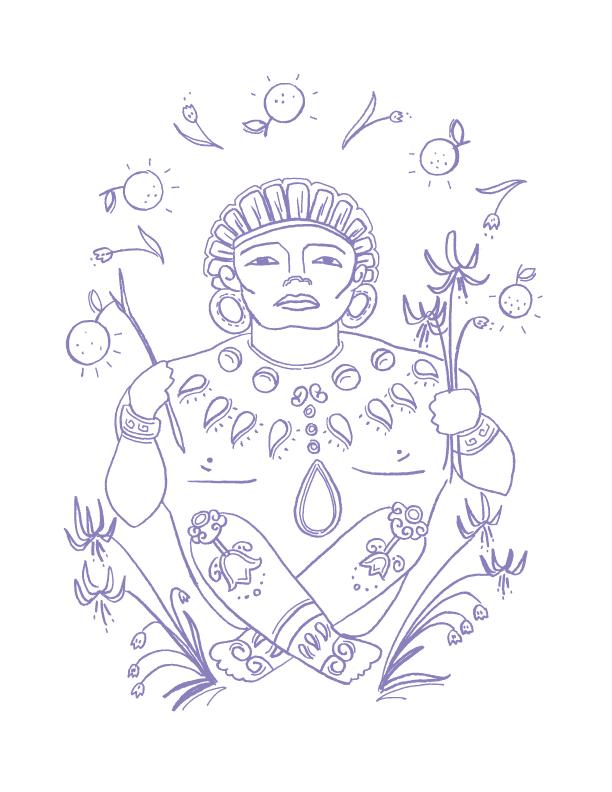 Deities_illustrations_Xochipilli_erin-ellis.png