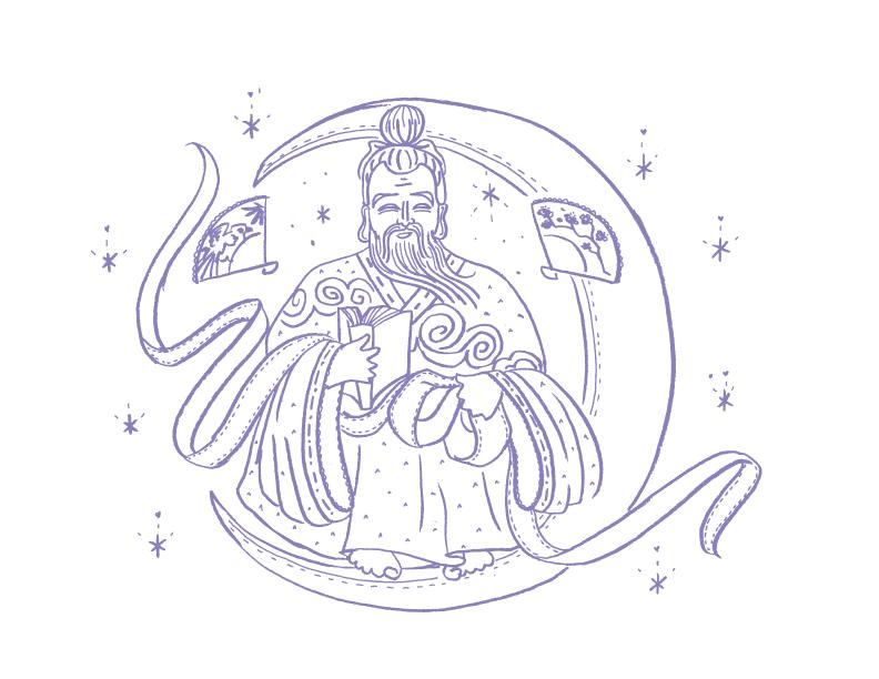 Deities_illustrations_Yue-Lao_erin-ellis.png