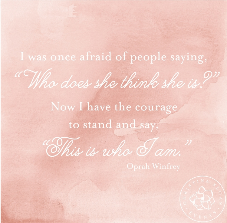 Oprah Quote | Christina Sloan Events