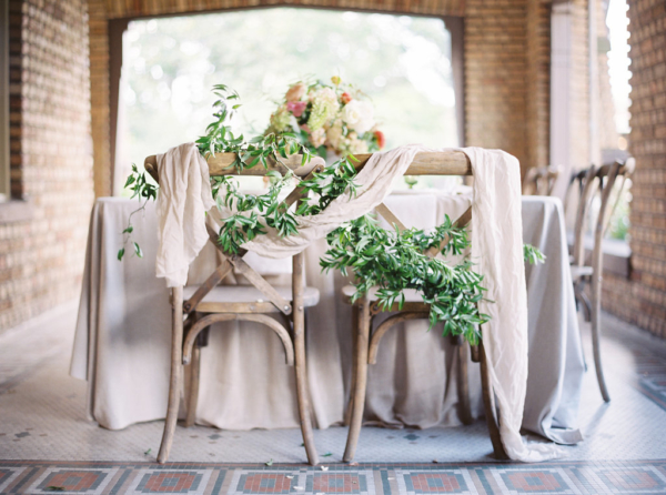 Greenery-and-Silk-Draping-on-Wedding-Chairs-christina-sloan-events-wedding-planners-birmingham-al-clubhouse-on-highland