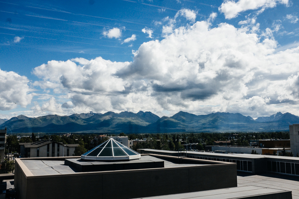View from the  4th story of the Anchorage Museum.
