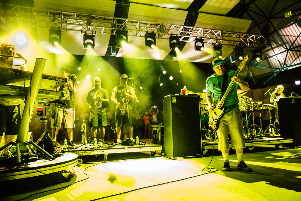 Brass section and Keyboards of Slightly Stoopid were in full force.