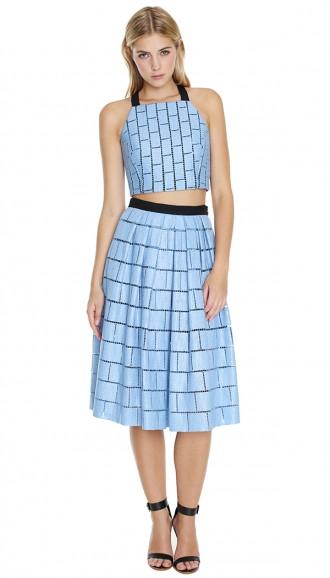 Tibi crop top and skirt.