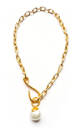 Catherine Canino, Chunky Chain & Pearl Pendant