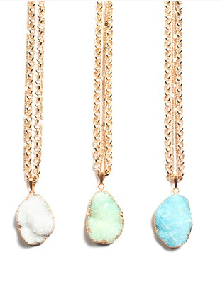 Gypsies & Debutantes Jewellery, Druzy Necklaces