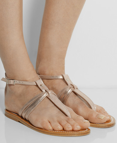 K Jacques St Tropez Metallic Sandals - metallic sandals are every summer must have, don't leave home without a pair.
