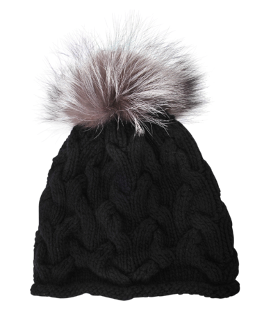 Inverni Short Cable Stitch Cashmere Hat - a luxurious addition to your ensemble that will warm you up in style.
