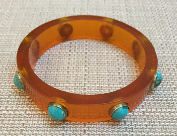 LFR Bangle - this turquoise resin bangle will much needed arm candy and colour to your outfit.