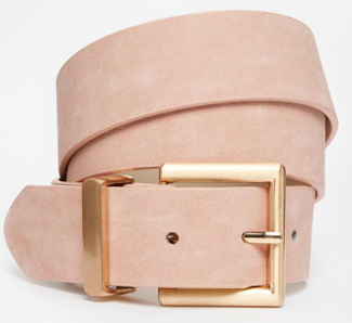 ASOS Blush Belt With Rose Gold Buckle Detail.png