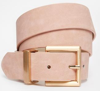ASOS Blush Belt With Rose Gold Buckle Detail.png