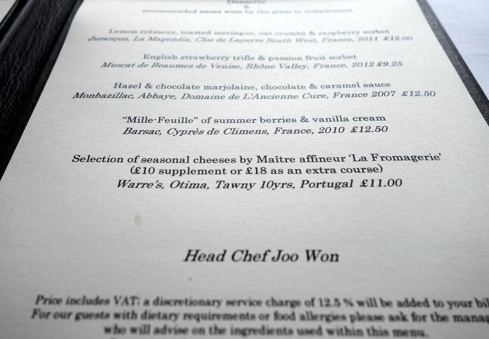 The menu, Star Wars style