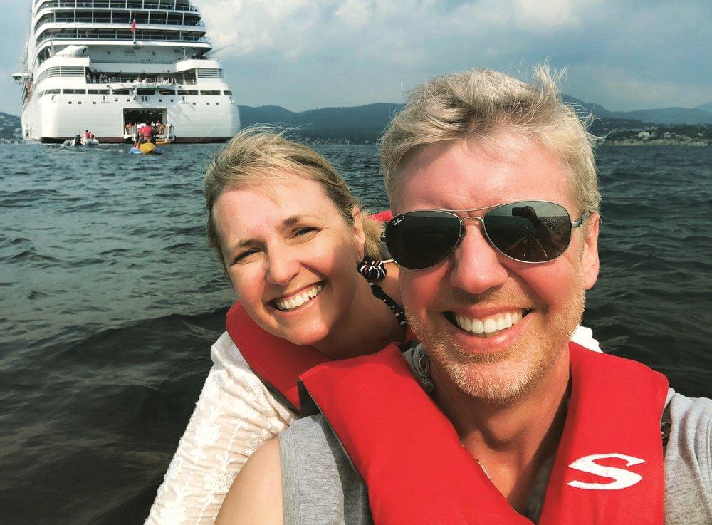 Cheesy kayak selfie!