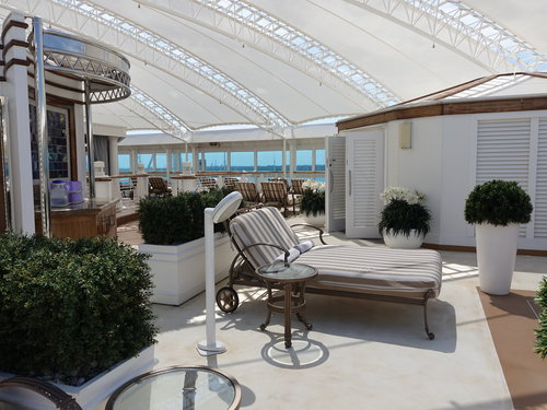 The Sanctuary on the Royal Princess - a paid for adult only area.
